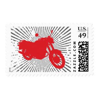 Motorcycle: Outline Profile: Custom Postage