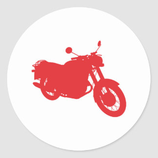 Motorcycle Outline Profile Sticker
