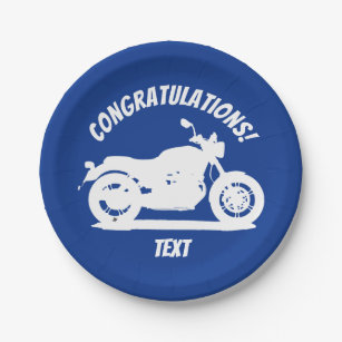 Motorcycle Paper Plate  sc 1 st  Zazzle : motorcycle paper plates - pezcame.com