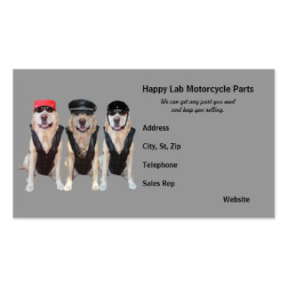 Motorcycle Parts Business Cards