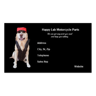 Motorcycle Parts Business Card Templates