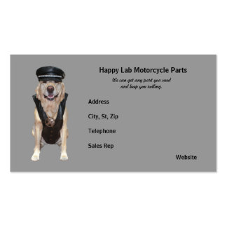 Motorcycle Parts Business Card Template