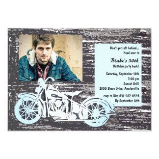 Motorcycle Photo Invitation