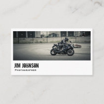 Motorcycle Photographer Professional Card