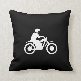 Motorcycle Pictogram Throw Pillow