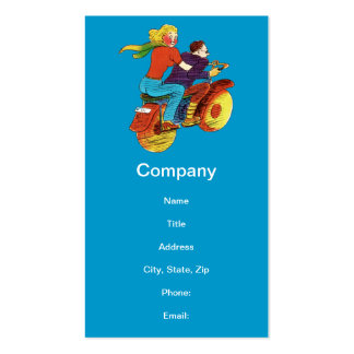 Motorcycle Pin-Up Double-Sided Standard Business Cards (Pack Of 100)