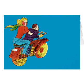 Motorcycle Pin-Up Stationery Note Card