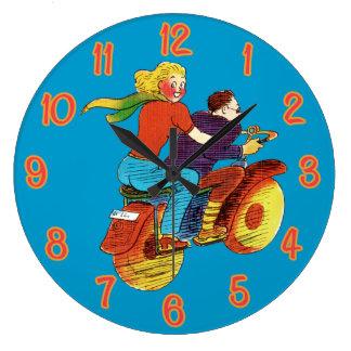 Motorcycle Pin-Up Clock
