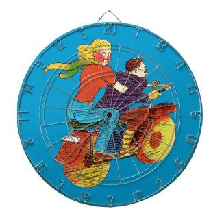 Motorcycle Pin-Up Dart Board