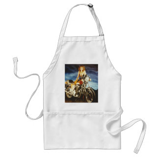 Motorcycle Pin-up Girl Adult Apron