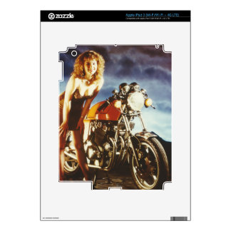 Motorcycle Pin Up Girl Decals For iPad 3