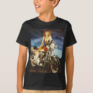 Motorcycle Pin-up Girl T-Shirt