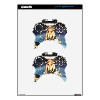 Motorcycle Pin-up Girl Xbox 360 Controller Decal