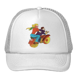 Motorcycle Pin-Up Trucker Hat