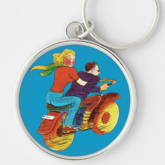 Motorcycle Pin-Up Key Chain