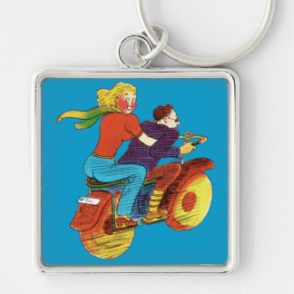 Motorcycle Pin-Up Keychain