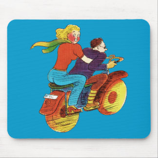 Motorcycle Pin-Up Mouse Pad