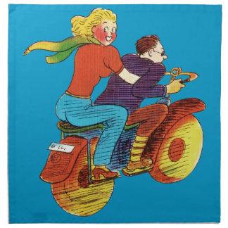 Motorcycle Pin-Up Napkin
