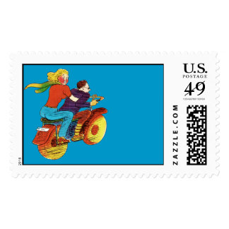 Motorcycle Pin-Up Postage