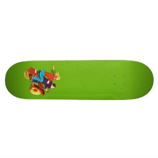 Motorcycle Pin-Up Skateboard Deck