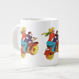 Motorcycle Pin-Up 20 Oz Large Ceramic Coffee Mug