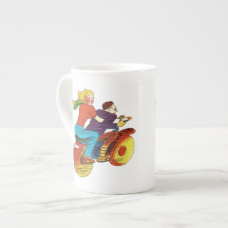 Motorcycle Pin-Up Tea Cup