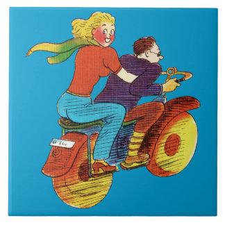 Motorcycle Pin-Up Tile
