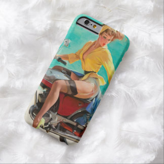Motorcycle Pinup Girl - Retro Pinup Art Barely There iPhone 6 Case