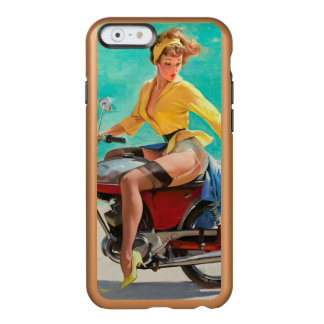 Motorcycle Pinup Girl - Retro Pinup Art Incipio Feather Shine iPhone 6 Case