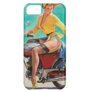 Motorcycle Pinup Girl - Retro Pinup Art iPhone 5C Case