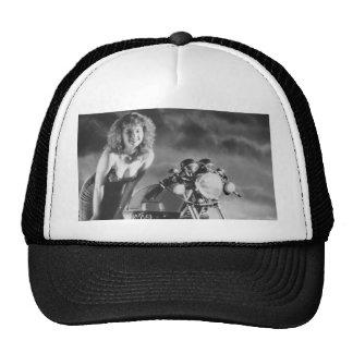 Motorcycle Pinup Girl Trucker Hat