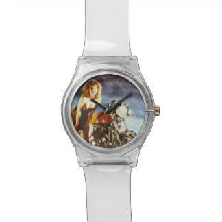 Motorcycle Pinup Girl Wrist Watch