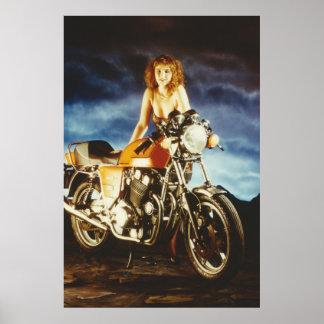 Motorcycle Pinup Poster
