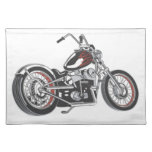 Motorcycle. Placemat