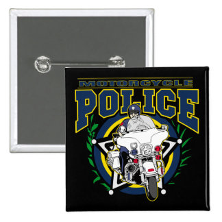 Motorcycle Police Pinback Buttons
