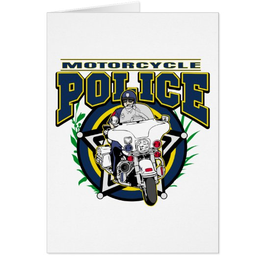 Motorcycle Police Card