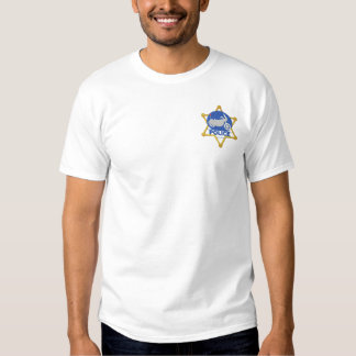 Motorcycle Police Embroidered T-Shirt