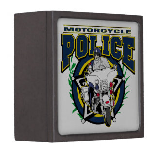 Motorcycle Police Keepsake Box