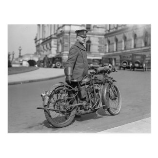 Motorcycle Police Officer 1922 Postcards
