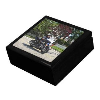 Motorcycle Police Officer Jewelry Box