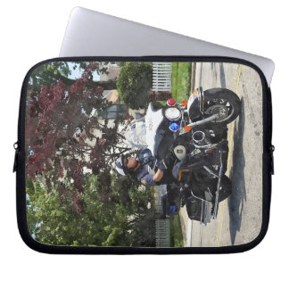 Motorcycle Police Officer Laptop Sleeve