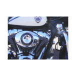 Motorcycle Police Power Stretched Canvas Prints