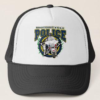 Motorcycle Police Trucker Hat