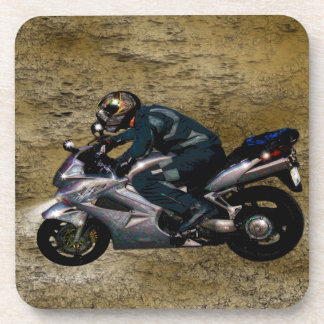 Motorcycle Power Biker Transport Gift Beverage Coaster