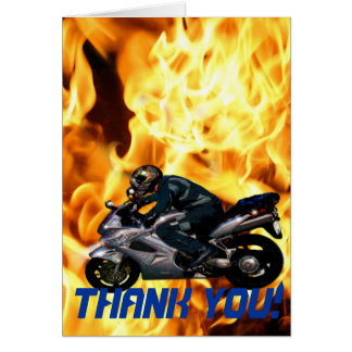 Motorcycle Power Biker Transport Gift Greeting Card