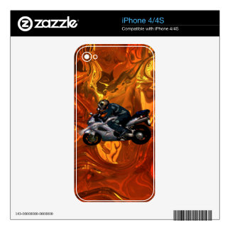 Motorcycle Power Biker Transport Gift iPhone 4S Decal