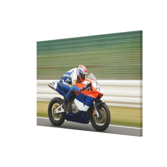 Motorcycle Race Canvas Print