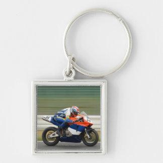 Motorcycle Race Keychain