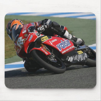 Motorcycle Race Track Red Mouse Pad