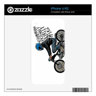 Motorcycle racer decal for iPhone 4